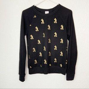 Disney Golden Mickey Sweater Black XS